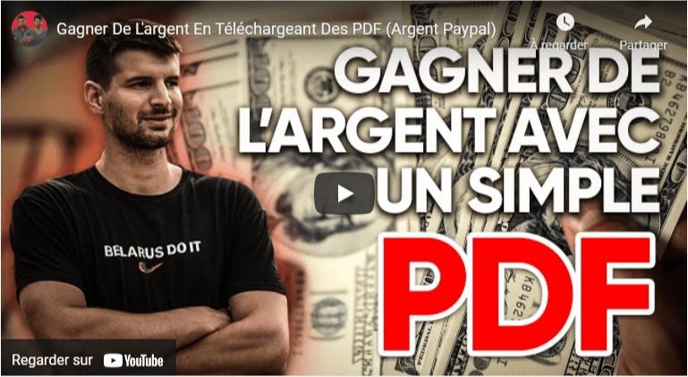 Gagner de l'argent avec des pdf